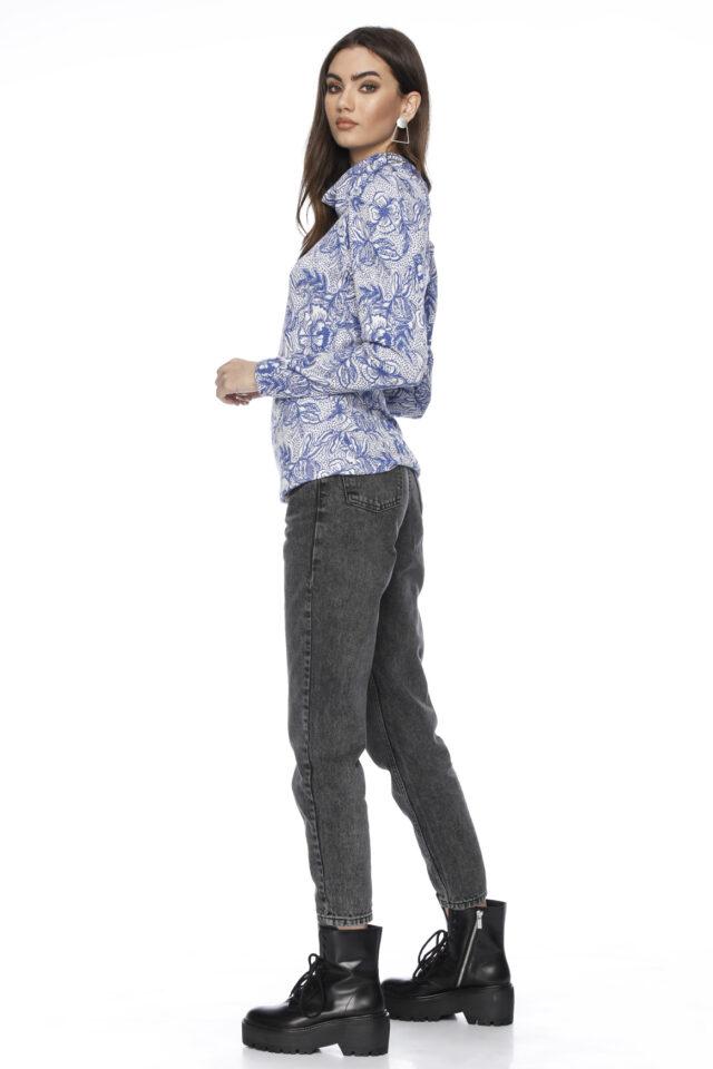 Bluza din bumbac cu imprimeu Damia