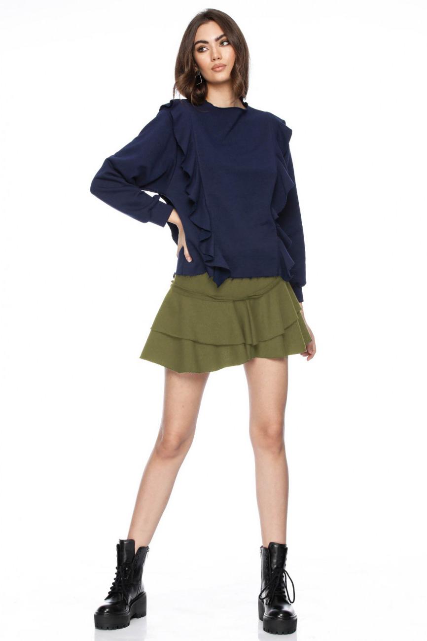 Fusta scurta tip pantalon kaki Maja