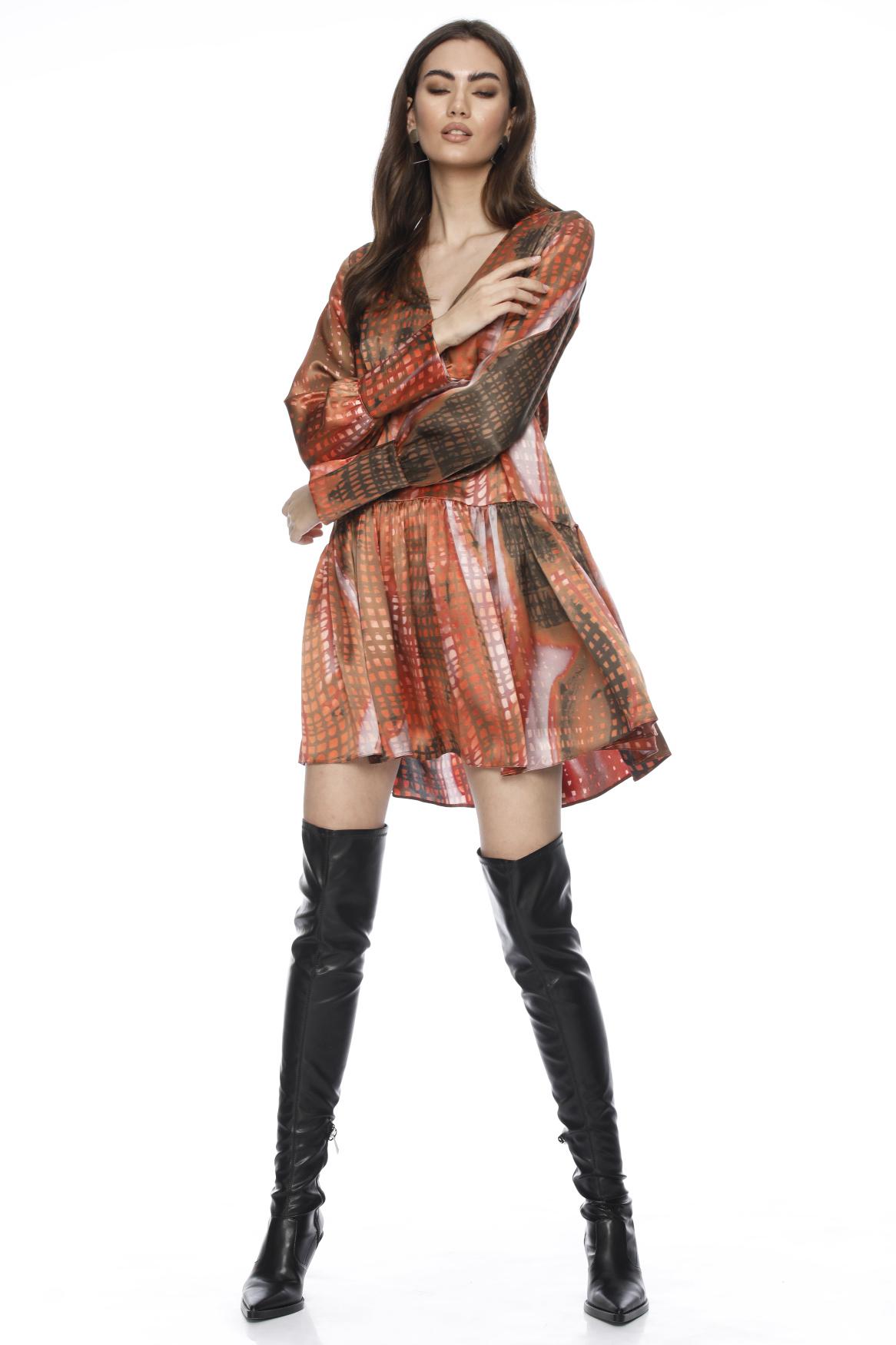 Rochie eleganta din matase cu imprimeu Alana