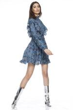 Rochie eleganta din matase cu imprimeu Zuri