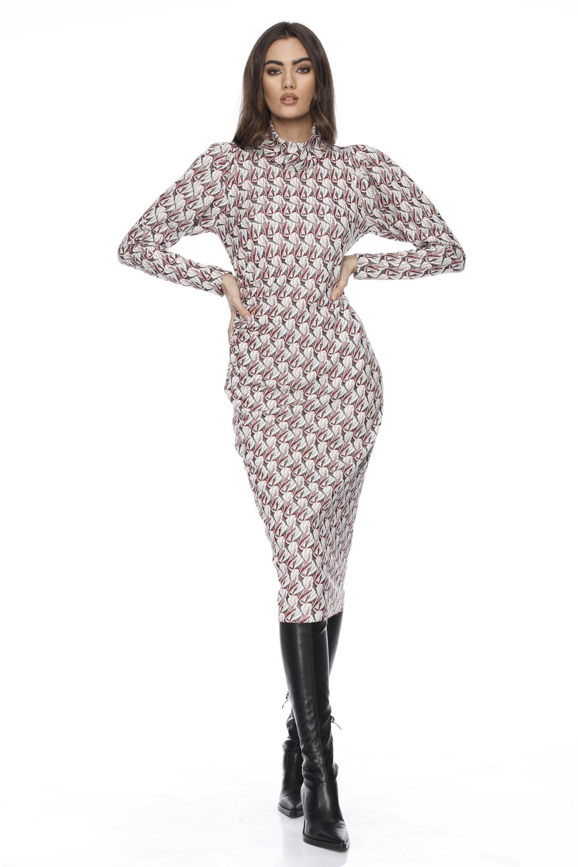 Rochie eleganta midi cu imprimeu Zandra
