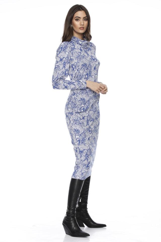 Rochie eleganta midi cu imprimeu floral Amberly
