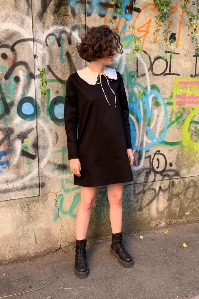 Rochie eleganta neagra scurta Baylee