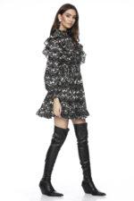 Rochie eleganta scurta cu imprimeu Talise