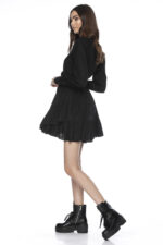 Rochie eleganta scurta clos neagra Anna