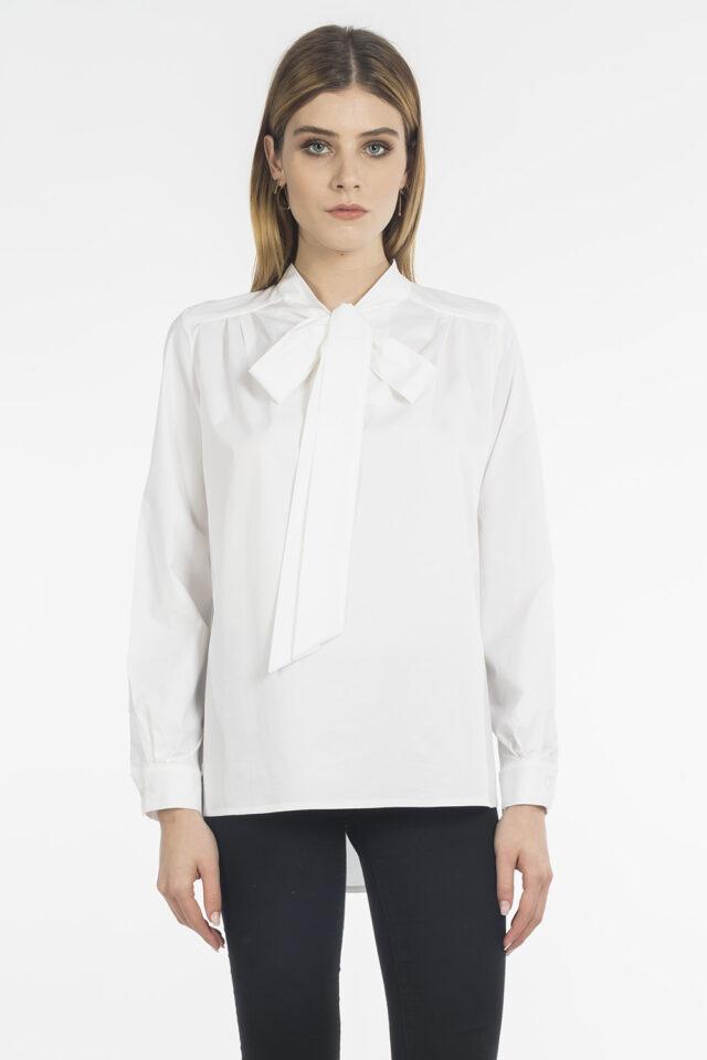Bluza alba din bumbac Novalis