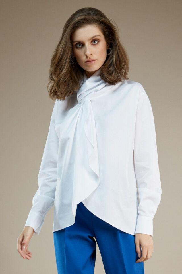 Bluza alba din bumbac Vicky