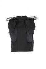 Bluza din bumbac neagra Zoe