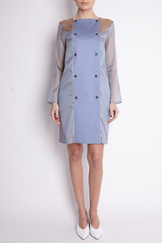 Rochie eleganta albastra de zi Orio
