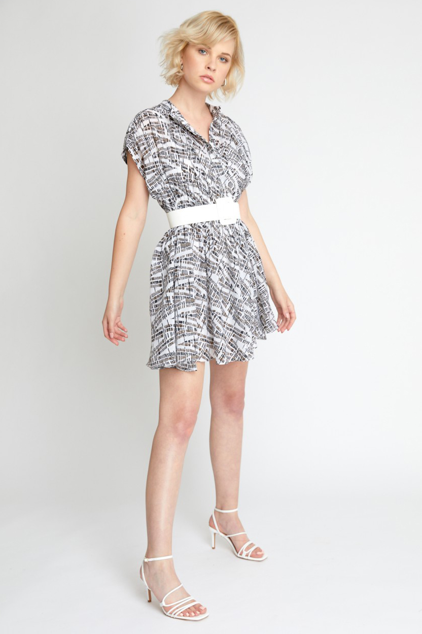 Rochie eleganta cu imprimeu abstract Adira