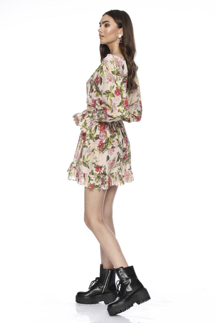 Rochie eleganta cu imprimeu din matase Fleur