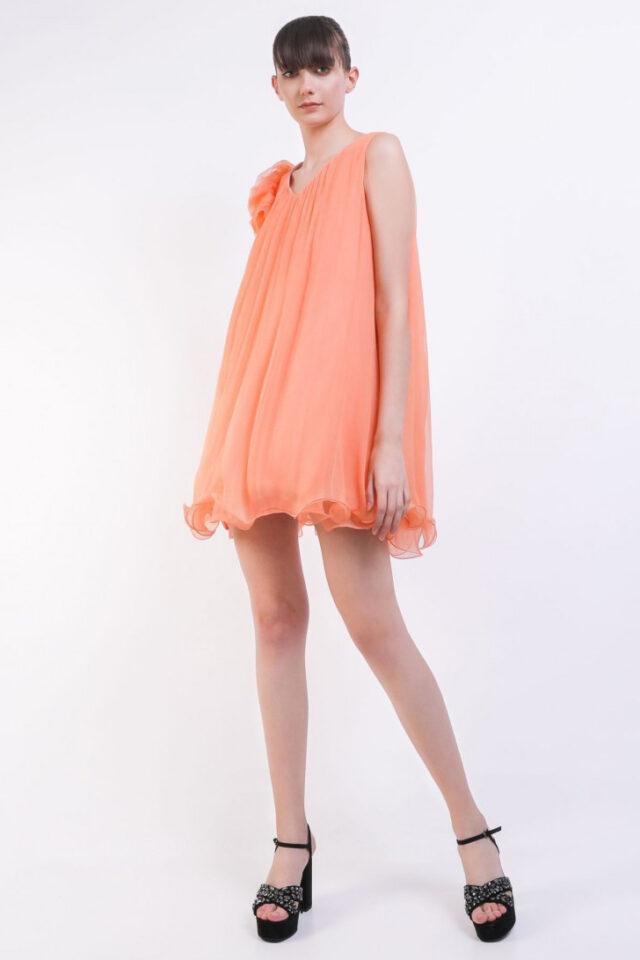 Rochie eleganta de seara portocalie Arielle