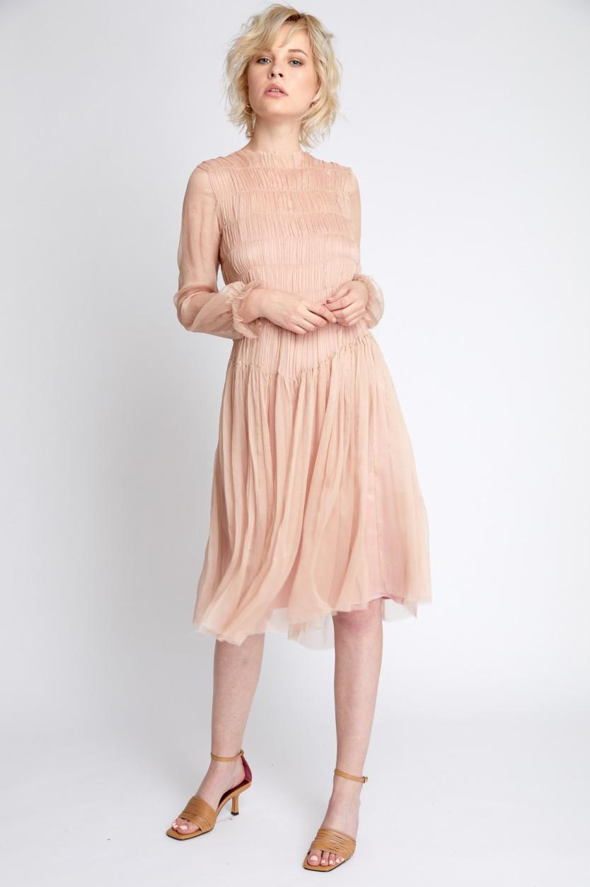 Rochie eleganta de seara roz prafuit Raina