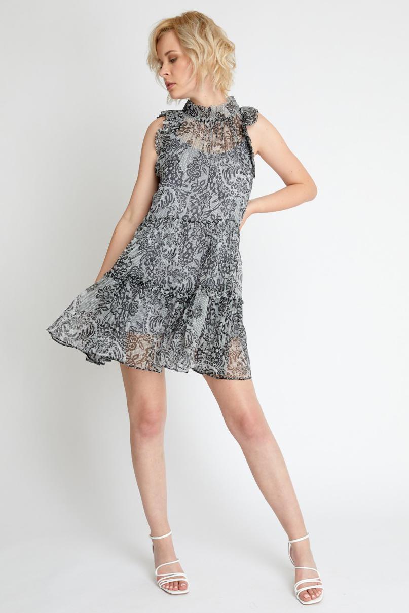 Rochie eleganta de zi cu imprimeu floral Floriana