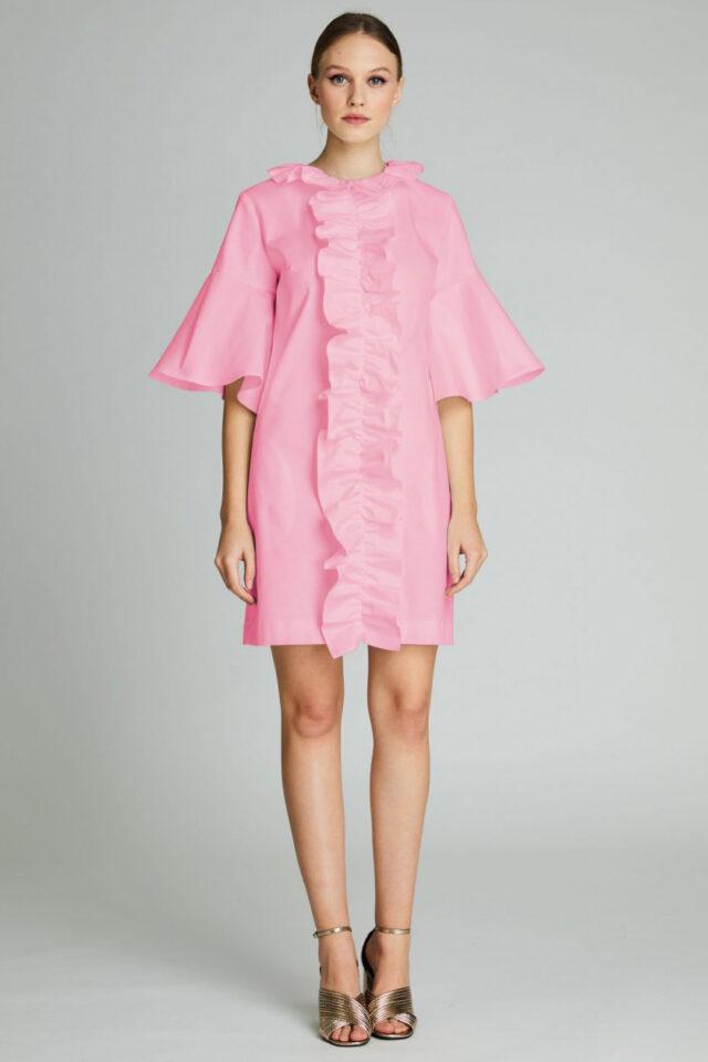 Rochie eleganta de zi roz Tiana