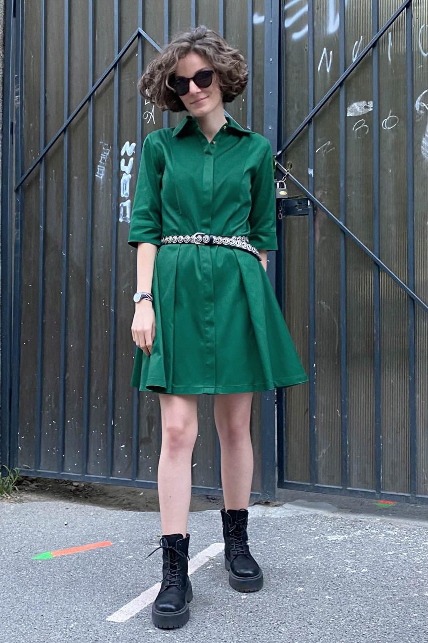 Rochie eleganta verde smarald Patrice