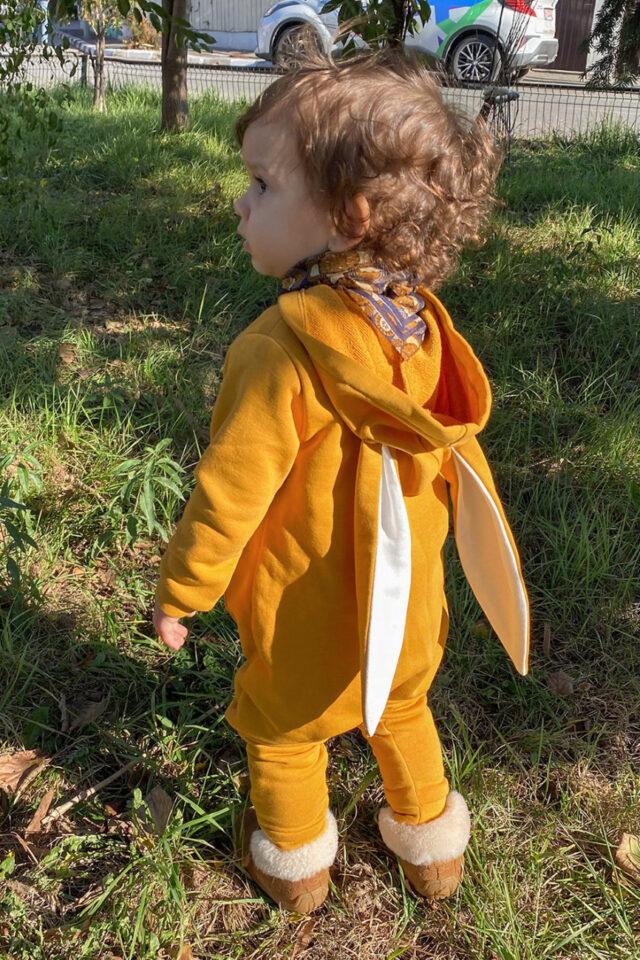 Salopeta din bumbac galben sunshine Mopsy