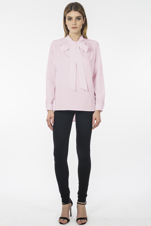 Bluza roz din bumbac Rebecca
