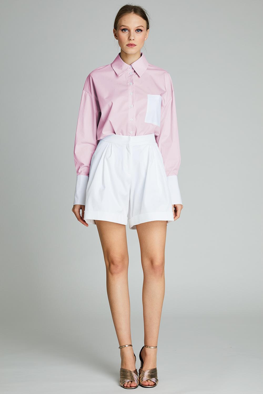 Camasa roz din bumbac Maida
