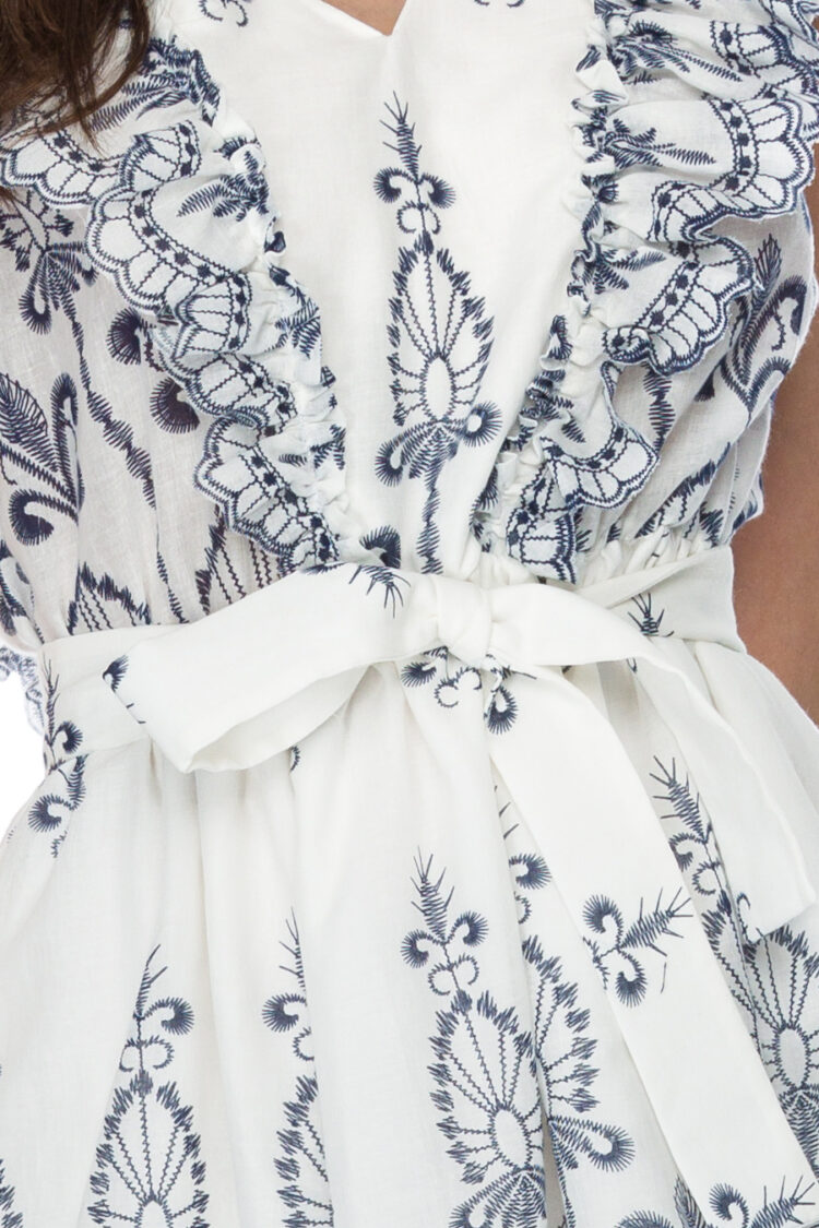 Rochie eleganta scurta din bumbac Helenne