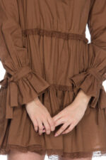 Rochie eleganta scurta din bumbac Megane