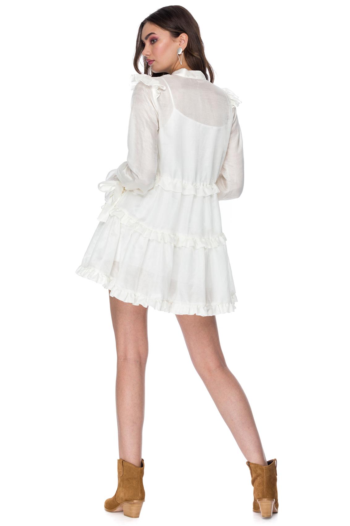 Rochie eleganta scurta ivoire Aletta