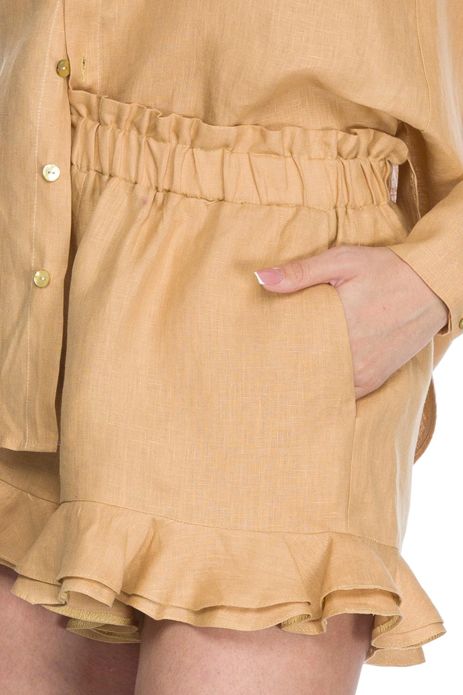 Pantaloni scurti din in bej Sunshine