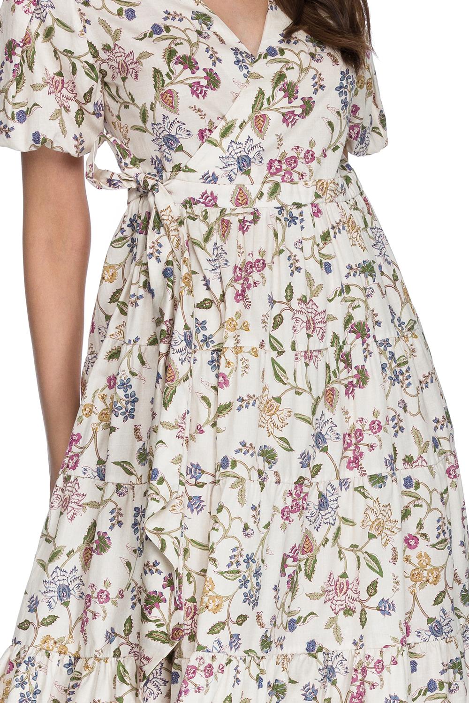 Rochie eleganta midi din bumbac Kalida