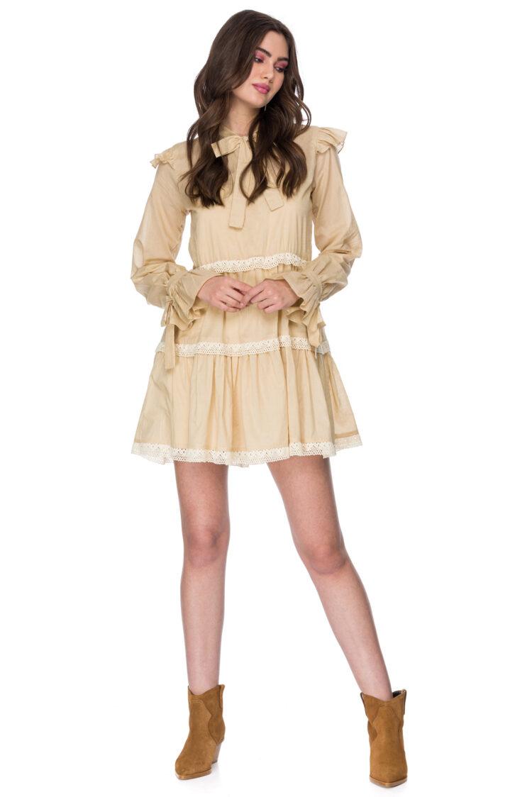 Rochie eleganta scurta din bumbac Celine