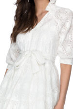 Rochie eleganta scurta din bumbac Karina