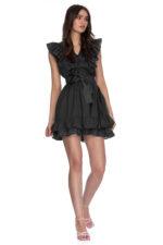 Rochie eleganta scurta neagra Nathalia