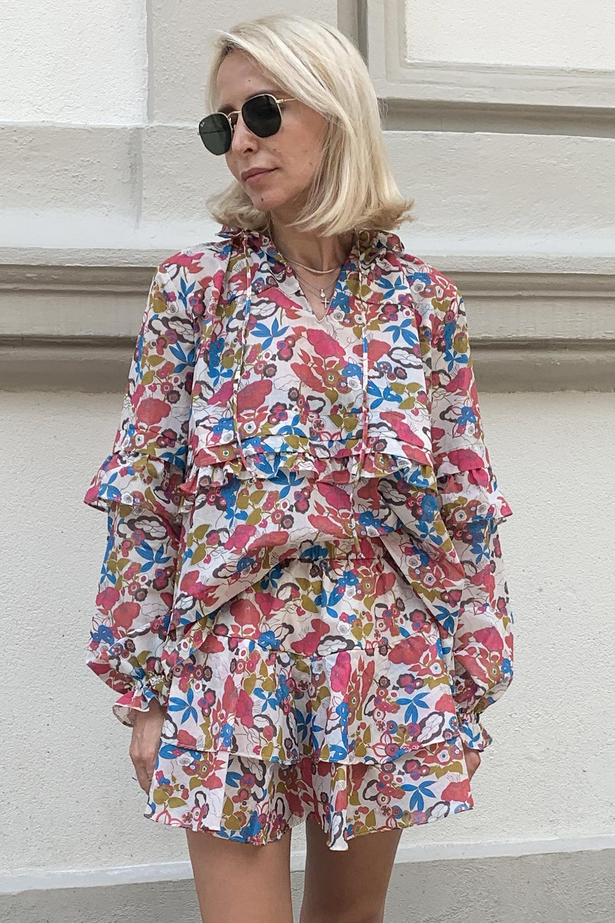 Bluza din bumbac cu imprimeu Trisha