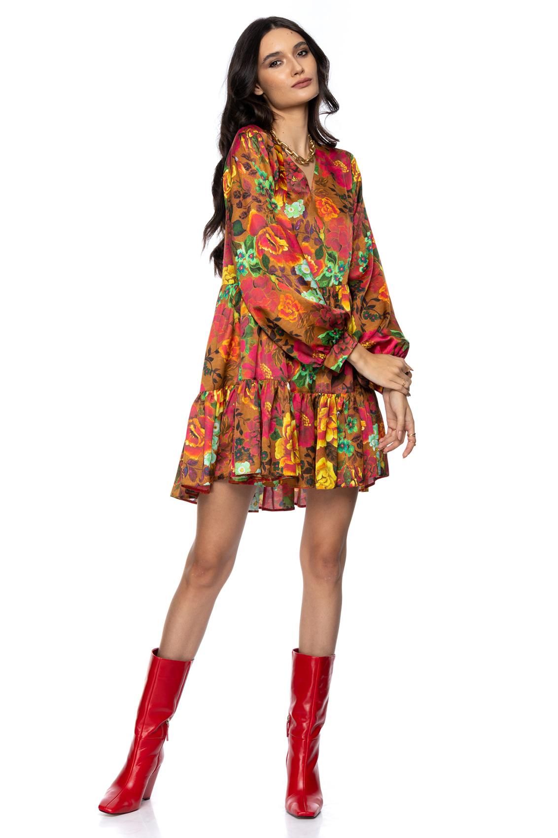 Rochie eleganta cu imprimeu floral Emily