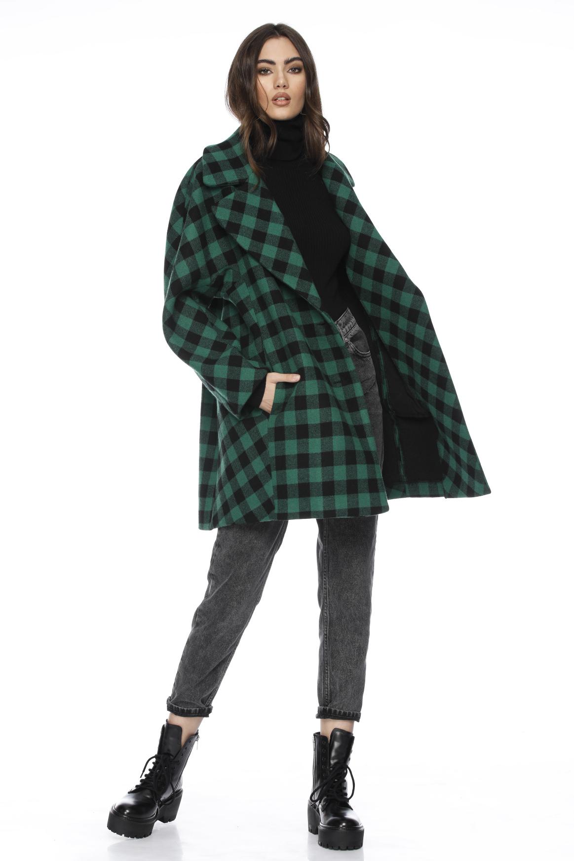 Palton dama scurt din lana Kelbi