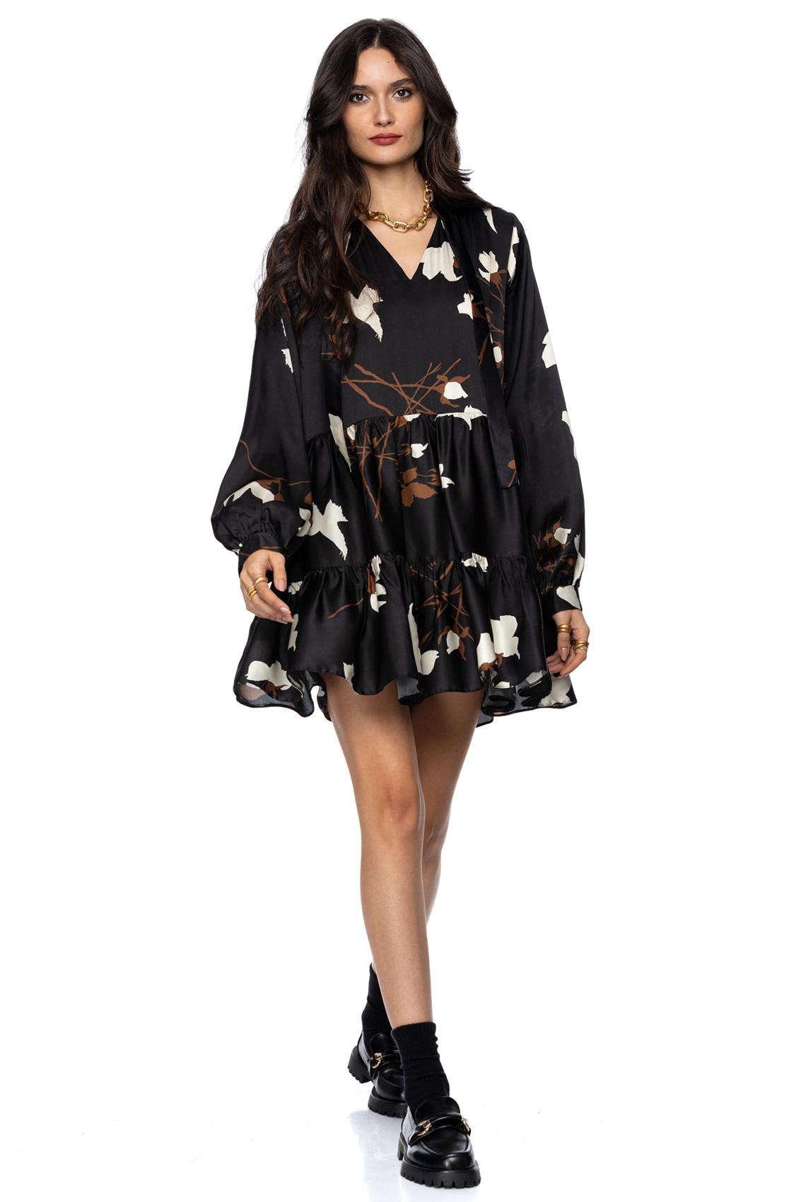 Rochie eleganta din matase cu imprimeu Mavis